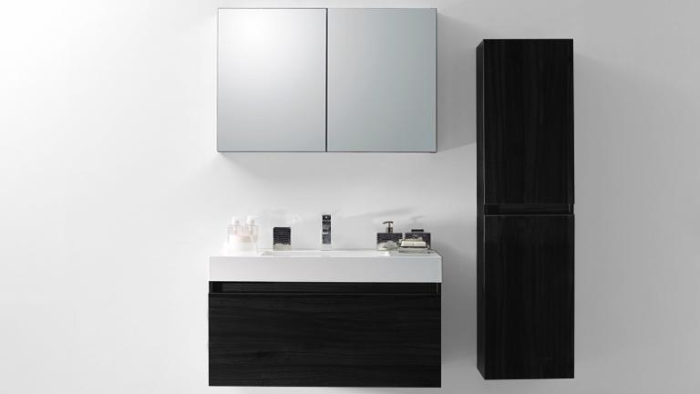 ensemble de salle de bain suspendu design donna mobilier moss. Black Bedroom Furniture Sets. Home Design Ideas