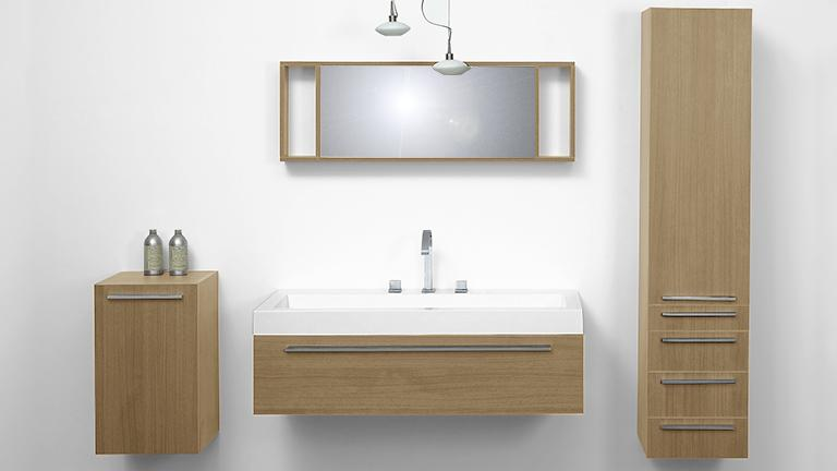 Ensemble salle de bain simple vasque Elettra - Mobilier Moss