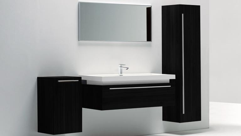 meuble suspendu noir salle de bain. Black Bedroom Furniture Sets. Home Design Ideas