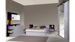 ensemble pulse contemporain violet gris