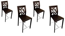 Lot de 4 tabourets design - Wesly