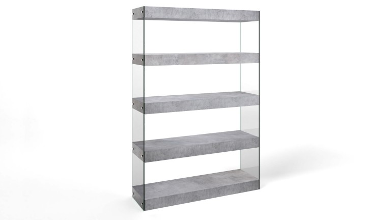 Etagere effet beton design contemporain crystalline mobiliermoss
