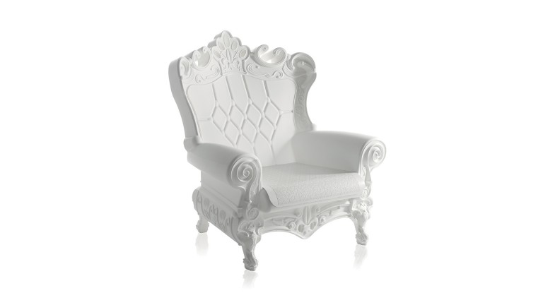 Fauteuil baroque colore design contemporain slide queen of love 8 mobiliermoss