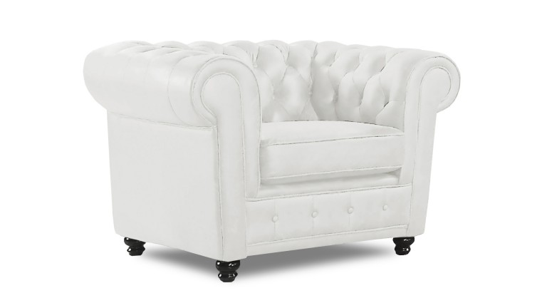 fauteuil club chesterfield cuir blanc W008 liverpool mobiliermoss