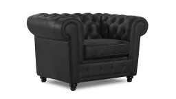 fauteuil club chesterfield cuir noir liverpool mobiliermoss