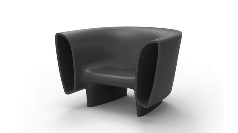Fauteuil contemporain design organique bum bum mobiliermoss