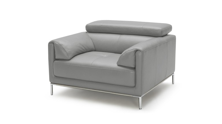 fauteuil cuir dossier relevable gris5503 oppland mobiliermoss