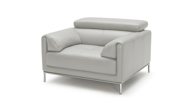 fauteuil cuir dossier relevable gris9015 oppland mobiliermoss