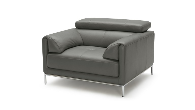 fauteuil cuir dossier relevable gris9019 oppland mobiliermoss