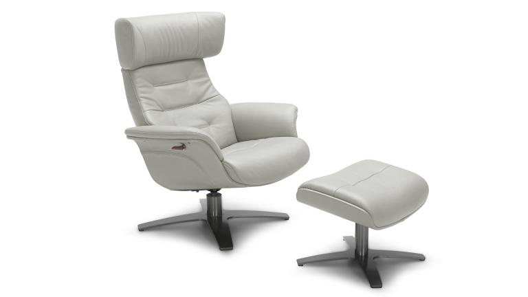 fauteuil cuir relax gris9015 perle mobiliermoss