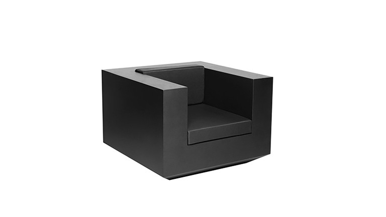 Fauteuil design contemporain noir vela mobiliermoss