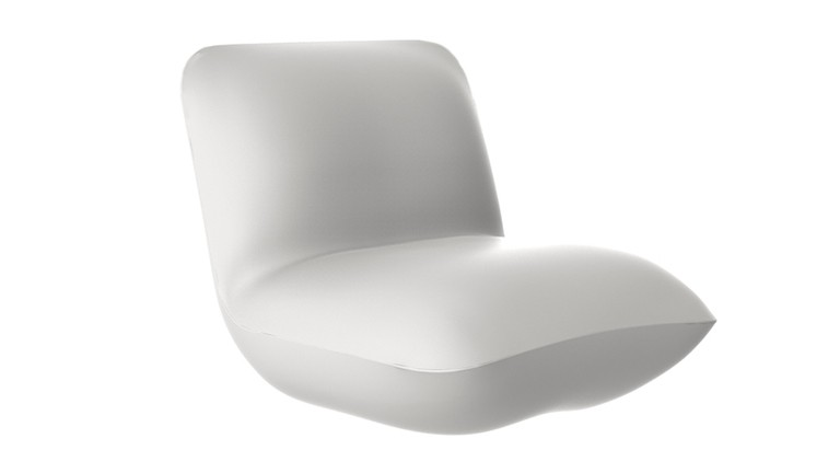 Fauteuil design contemporain polyethylene blanc pillow mobiliermoss