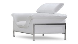 fauteuil design cuir blanc modulable shawn mobiliermoss