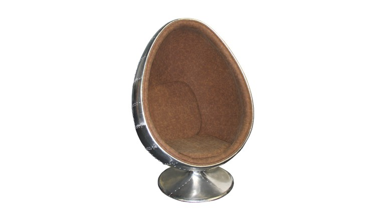 fauteuil pivotant simili cuir vintage eggball mobiliermoss - Fauteuil Oeuf
