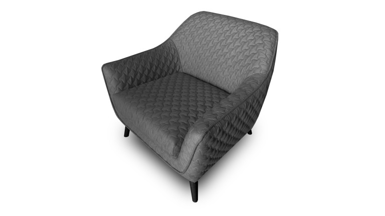 fauteuil skanor avec rev tement tissu capitonn 3d mobilier moss. Black Bedroom Furniture Sets. Home Design Ideas