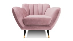 Fauteuil velours rose style retro novy mobiliermoss