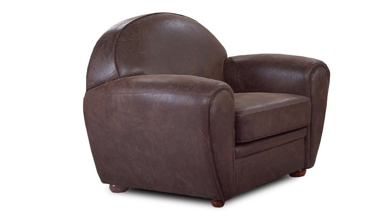 fauteuil club vintage jazzy style industriel en microfibre. Black Bedroom Furniture Sets. Home Design Ideas