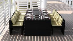 follow dinning table chaise exterieur en rotin noir