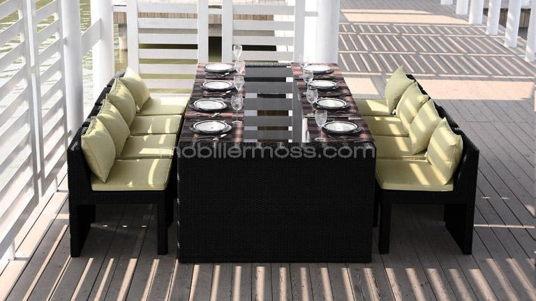 Chaise haute salon de jardin for Table exterieur 12 personnes