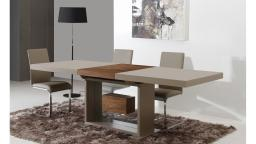 friendly table salle a manger laquee avec rallonges ouverte mobilier moss