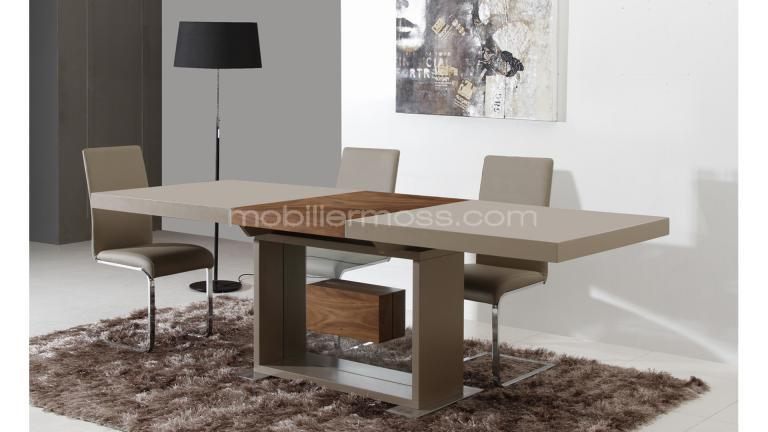 Salle manger compl te friendly mobilier moss for Table a rallonge salle a manger