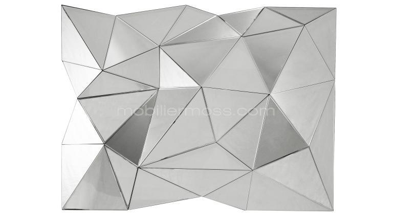 grand miroir design multi facettes wall detail original
