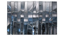 grand miroir design rectangulaire multifacettes meza