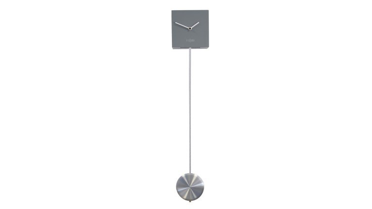 horloge a balancier design gris cubspend mobiliarmoss