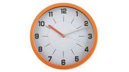 horloge aluminium orange 30cm yna mobiliermoss