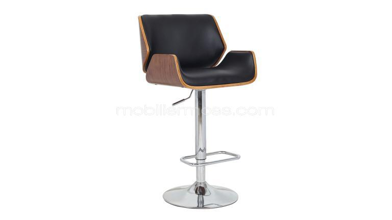 tabouret de bar moderne avec pied chrom katrina mobilier moss. Black Bedroom Furniture Sets. Home Design Ideas