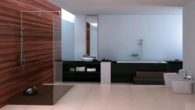 ensemble de douche contemporain kiara mobilier moss. Black Bedroom Furniture Sets. Home Design Ideas