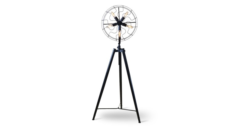 lampadaire tripod en m tal warenn type industriel mobilier moss. Black Bedroom Furniture Sets. Home Design Ideas