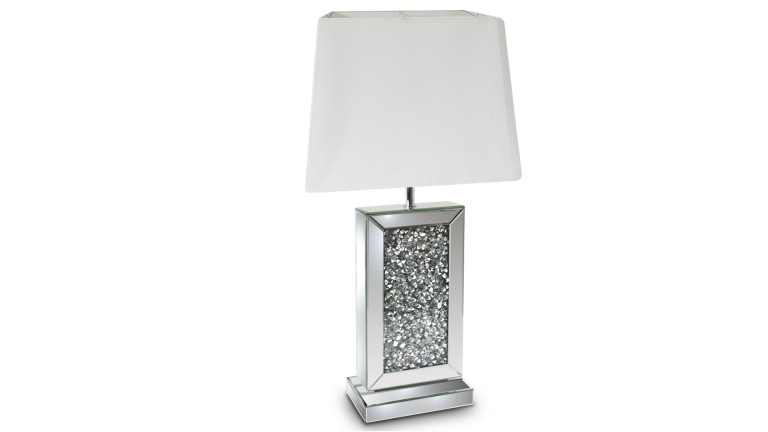 lampe a poser pied rectangulaire miroir strass manihi 2 mobiliermoss
