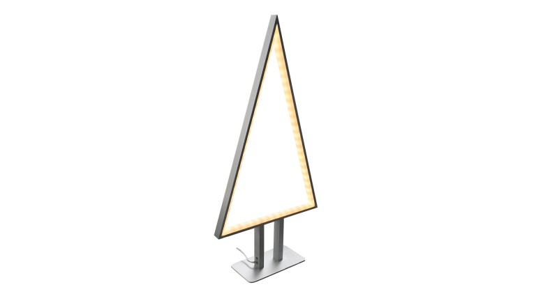 lampe de table design triangle aluminium alume sapin sompex mobiliermoss