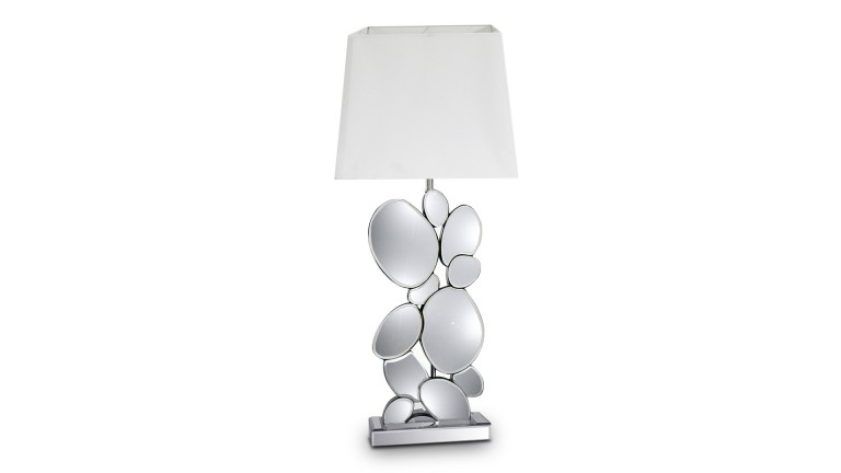 lampe de table miroir abat jour blanc alabania mobiliermoss