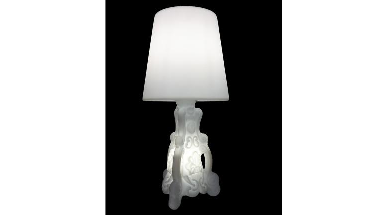 lampe design baroque pied lumieux lady of love blanc mobiliermoss