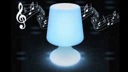 lampe enceinte bluetooth exterieur bleue handy 8 mobiliermoss