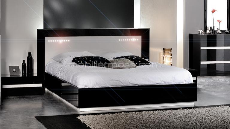 design avec rangement integre dans la tete de lit acheter. Black Bedroom Furniture Sets. Home Design Ideas