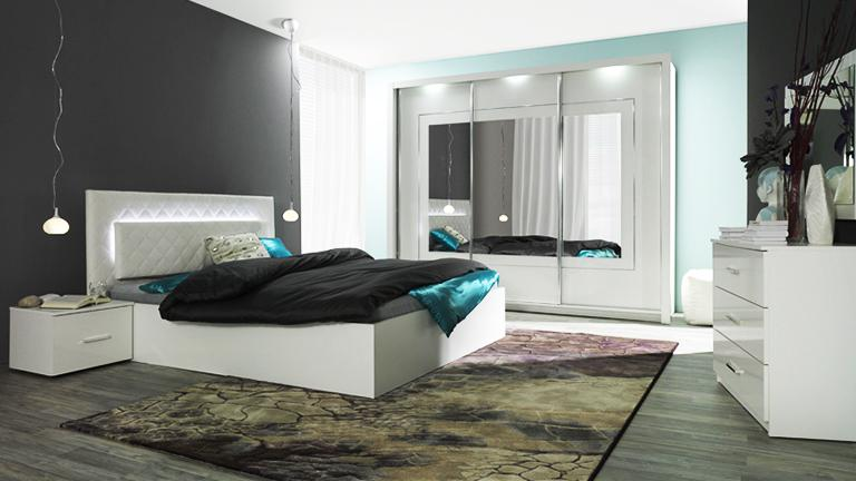 Chambre design for Mobilier chambre adulte complete design
