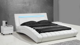 Cama moderna de polipiel con luz integrada - Joe