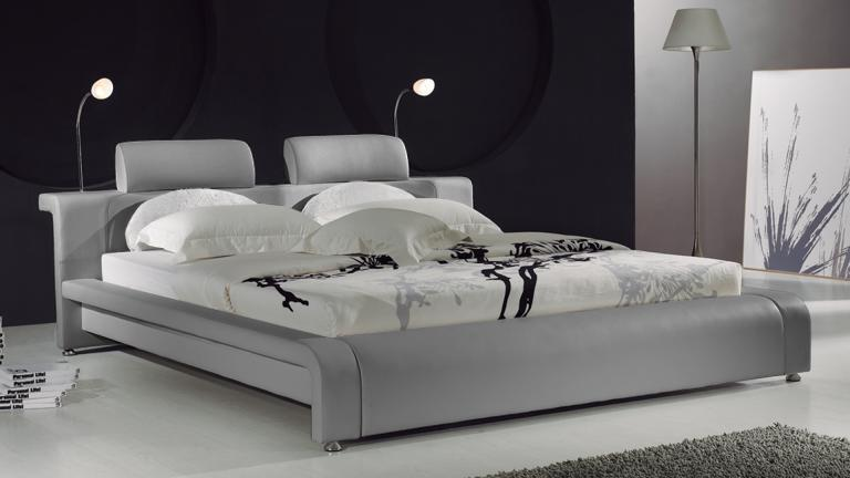 lit design contemporain bianco un lit moderne en cuir au. Black Bedroom Furniture Sets. Home Design Ideas