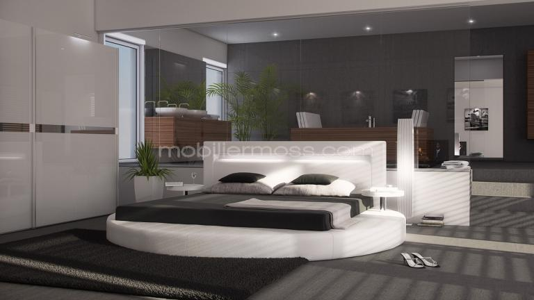 mobiliermoss lit design lits design en cuir. Black Bedroom Furniture Sets. Home Design Ideas
