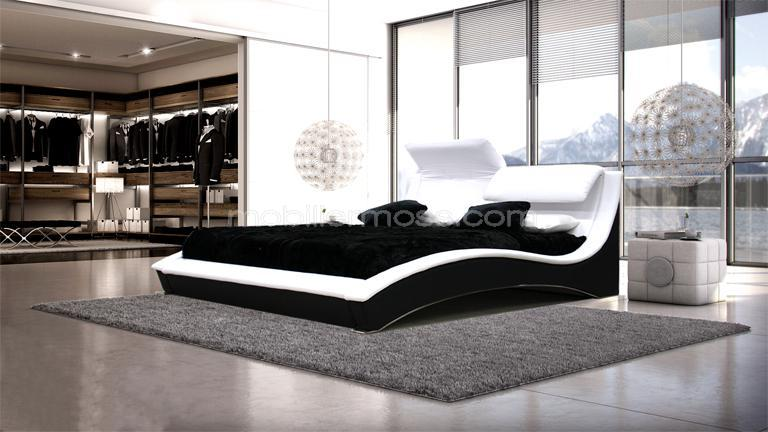 lit design en cuir ideal un lit moderne en cuir mobilier moss. Black Bedroom Furniture Sets. Home Design Ideas
