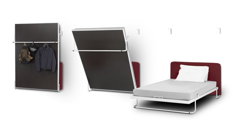 Mueble multifunci n vertical bed una cama vertical plegable moderna - Lit double en hauteur ...