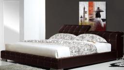 lit moon design capiton strass choco mobilier moss