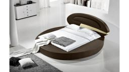 Lit rond design Planet en cuir