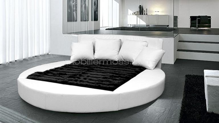 lit deux places rond. Black Bedroom Furniture Sets. Home Design Ideas