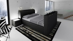 lit design lit cuir lit design mobiliermoss. Black Bedroom Furniture Sets. Home Design Ideas
