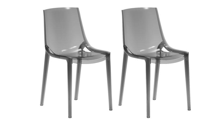 Lot de 2 chaises design pengy en plexi transparent for Chaise design plexi