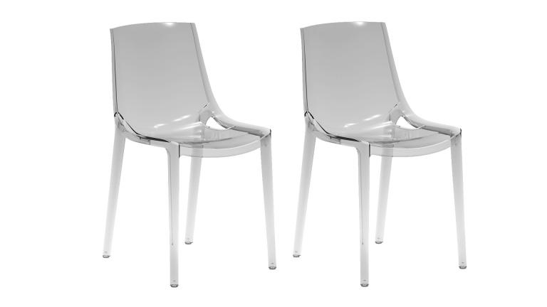 Lot 2 Chaises Transparentes Design Plexi Pengy Mobiliermoss